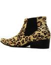Stewart MADCAP ENGLAND Leopard Print Chelsea Boots