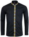 Avory MADCAP ENGLAND 60s Mandarin Collar Shirt (B)