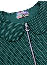 Mayfair MADCAP ENGLAND 60s Mod Ring Zip Dress