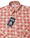 Octopus Ride MADCAP ENGLAND Retro 1960s Shirt RED