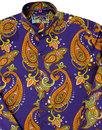 Tanpura Paisley MADCAP ENGLAND 60s Grandad Shirt