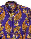 Tanpura Paisley Trip MADCAP ENGLAND 60s Mod Shirt