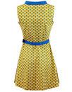 Peacock Minnie MADCAP ENGLAND Op Art Mod Dress