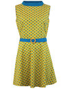 madcap england peacock minnie retro 60s mod dress