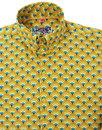 Peacock MADCAP ENGLAND Retro 60s Mod Op Art Shirt