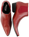 Dexter MADCAP ENGLAND Retro Mod Chelsea Boots RED