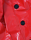 Jackie MADCAP ENGLAND Retro 60s PVC Raincoat RED