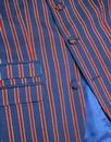 MADCAP ENGLAND Mod 3 Button Regatta Stripe Suit