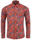 Tabla Paisley MADCAP ENGLAND Retro 60s Mod Shirt