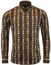 madcap england Trip 70s stripe retro orb shirt