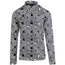 Madcap England Trip Op Art 1960s Psychedelic Mod Button Down Shirt in Black/White