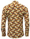 Trip MADCAP ENGLAND Retro 70s Big Collar Geo Shirt