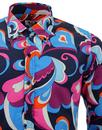 MADCAP ENGLAND Trip Paisley Surf Psychedelic Shirt