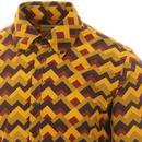 Trip Zig Zag MADACP ENGLAND Retro 60s Mod Shirt