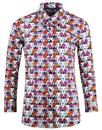 madcap england retro mod womens lion print shirt