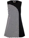 Luna MADCAP ENGLAND 1960s Mod Zig Zag Panel Dress