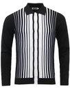 madcap england everly 60s mod stripe polo cardigan