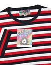 Bande MADCAP ENGLAND Retro Mod Tri-Stripe T-Shirt