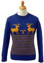 Run Rudolph Run Retro Christmas Jumper by MADCAP B
