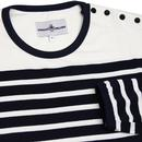 Le Beat MADCAP ENGLAND 60s Mod Breton Stripe Tee
