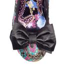 Mal E Bow IRREGULAR CHOICE Embroidered Heels BLACK