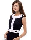 MARMALADE Retro 60s Mod Two-Tone A-Line Dress