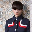MARMALADE Retro 60s Mod Airline Coat in Navy