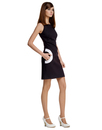 MARMALADE Retro 60s Mod Circle Pocket Dress Black
