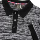 Acton MERC Sixties Mod Space Dye Knitted Polo