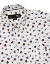 Alan MERC Mens 60s Mod Big Paisley Print Shirt (W)