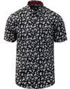 merc London alpha all over paisley print s/s shirt
