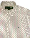 Barrack MERC 60s Mod Polka Dot Stripe Shirt WHITE