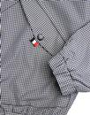Bravo MERC Retro Mod Gingham Check Bomber Jacket