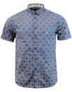 Caspian MERC Retro Mod Bubble Polka Dot Shirt NAVY