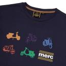 Halford MERC 60's Retro Mod Scooter Print T-Shirt