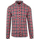 Merc Hamlet Men's 1960s Mod Flannel Check Western Shirt