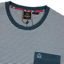 Holland MERC Retro Mod Stripe Pocket T-shirt TEAL