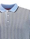 Manor MERC Retro 60s Mod Geometric Cube Polo Shirt