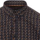 Milford MERC Men's Mod Micro Floral Shirt (Black)