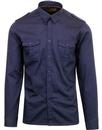 merc London officer retro 60s military shirt navy