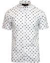 merc patrol retro 60s mod badge oxford shirt white