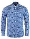 Pinfold MERC 60s Mod Geo Floral Kaleidoscope Shirt