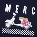 Romford MERC Mod Checkerboard Scooter Tee (Navy)