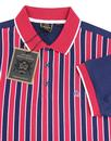 Squad MERC Retro Boating Stripe 60s Mod Polo Shirt