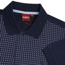 Stepney MERC 1960s Mod Op Art Dot Print Polo Top