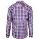 Sunbury MERC Button Down Check Shirt In Red/Blue