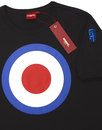 Ticket MERC Mod Target Retro Pop Art T-Shirt BLACK