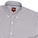 Tooting MERC 60s Mod Geo Weave Print Shirt (White)