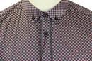Shane MERC Retro 60s Geometric Square Mod Shirt