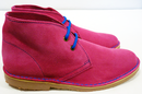 Polly Retro Mod Suede Contrast Lace Desert Boots F